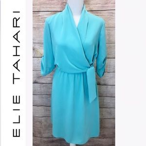 Elie Tahari Long Sleeve Midi Dress